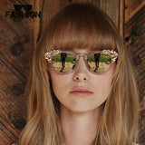 Jewelry Sunglasses Flower Decoration Vintage Shades - Hippie BLiss