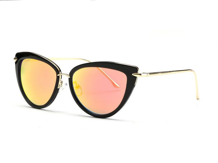 Gold Black Rose Gold Cat Eye Sunglasses - Hippie BLiss