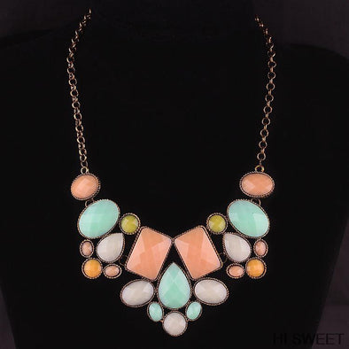 Free Three Color Statement Necklace - Just Pay For Shipping - Hippie BLiss