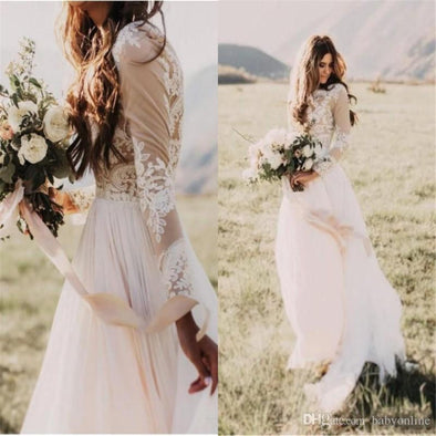 Bohemian Wedding Dress Beach Boho Bridal Gown - Hippie BLiss