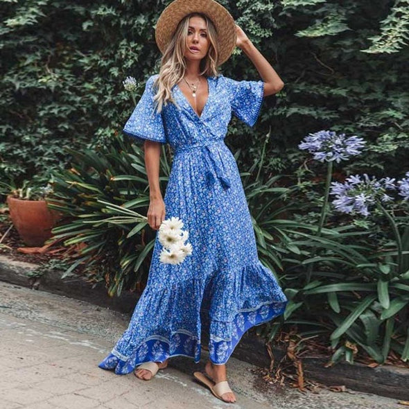 Boho Tassel Maxi Dress - Hippie BLiss