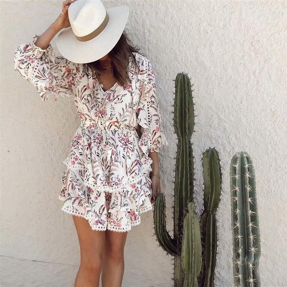 Boho Ruffle PlayDress - Hippie BLiss
