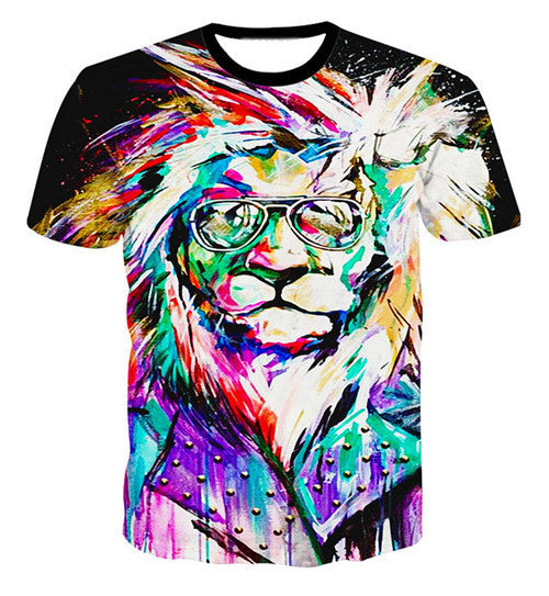 The Thinker Printing Abstract t-shirt Unisex Women/Men Casual 3d t shirt