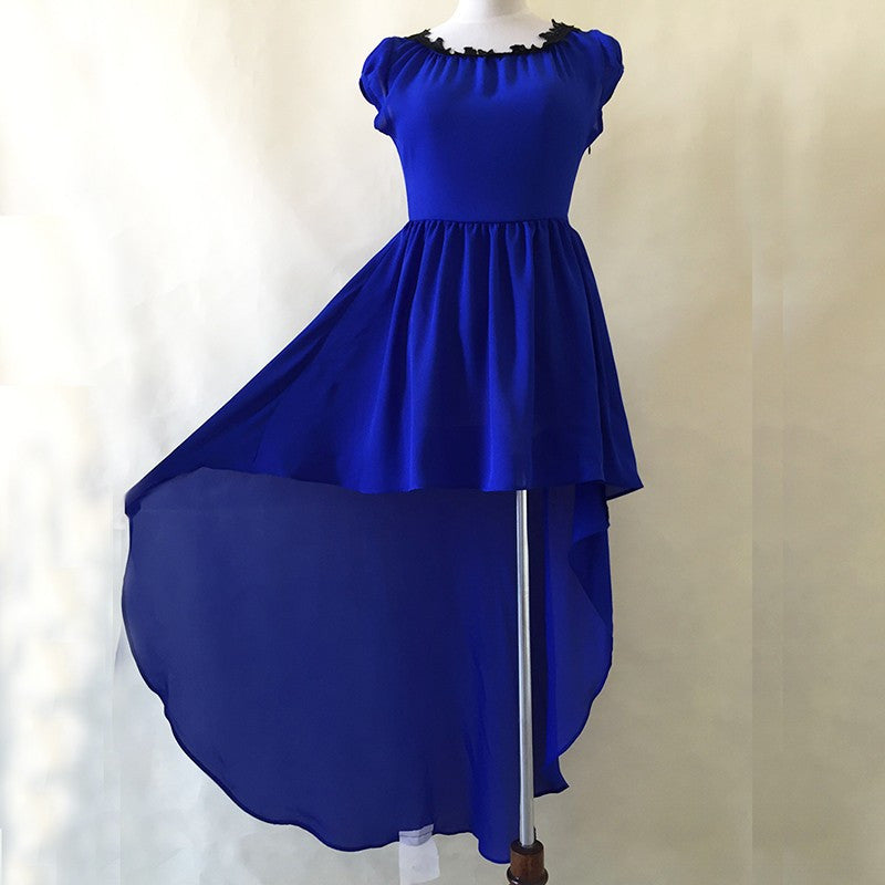 High Low Royal Blue Dress - Party Dress - Hippie BLiss
