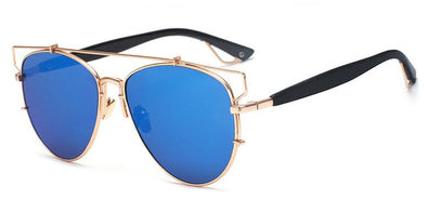 Reflective Aviator Sunglasses
