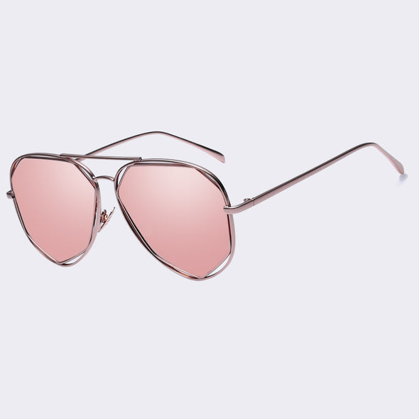 Women Aviator Rose Gold Sunglasses