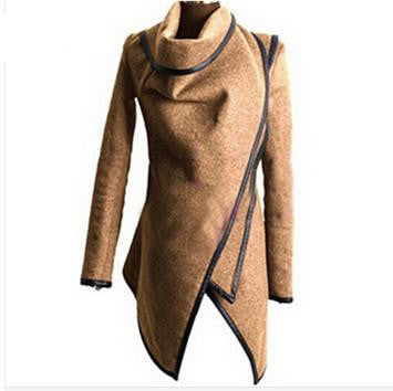 Wrap Coat Trench Coat  Women Cashmere Overcoat Full Size Women Wool Coats Fur
