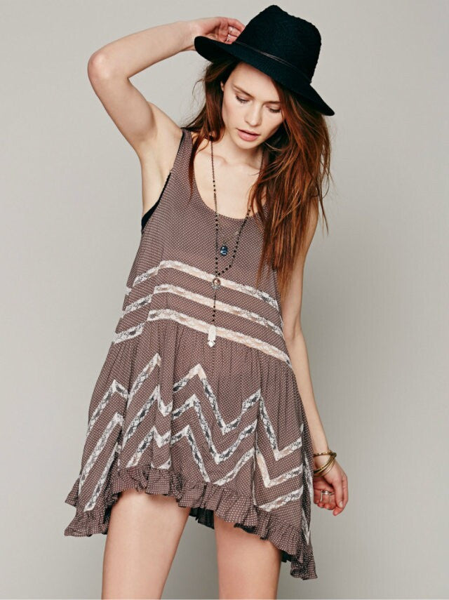 Boho The Free People Style Dresses Boho Chic Swing Dress - Hippie BLiss