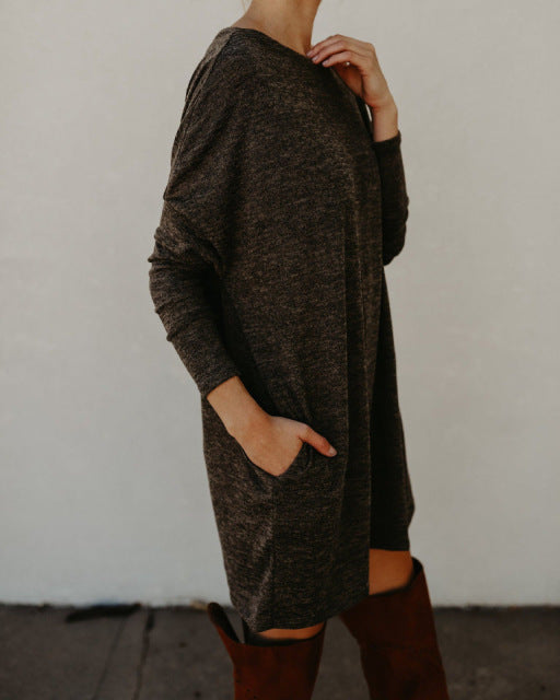 Casual Sweater Dress - Hippie BLiss