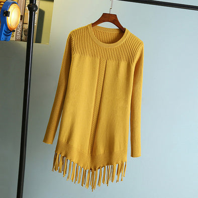 Long Sweater Knitting Pullovers - Hippie BLiss