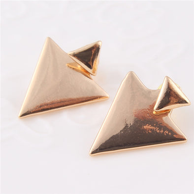 Triangle Earrings Punk Jewelry Stud Earrings for Women