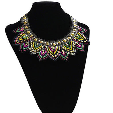 Free Ethnic Collar Pendant Choker Statement Necklace - Just Pay For Shipping - Hippie BLiss