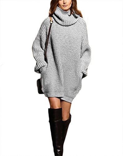 2edc2941d3a Cowl Neck Long Sleeve Knit Baggy Pullover Sweater Oversize Sweater ...