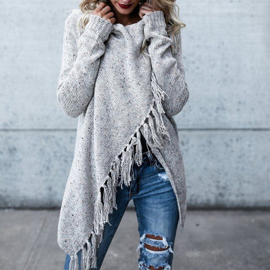 Cross Fringe Sweater - Hippie BLiss