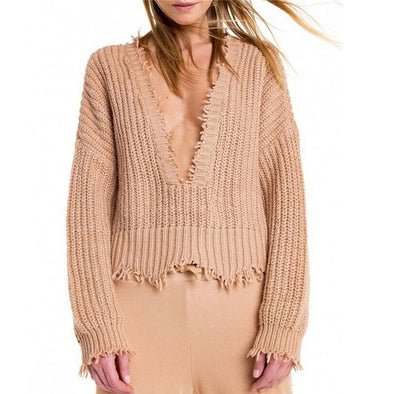 Fringe Oversize Sweater - Hippie BLiss