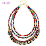 Latest Women Multi layers Statement Necklace Boho Style Wrap Chains Ball Handmade Collar Maxi Necklaces & Pendants Big Jewelry - Hippie BLiss
