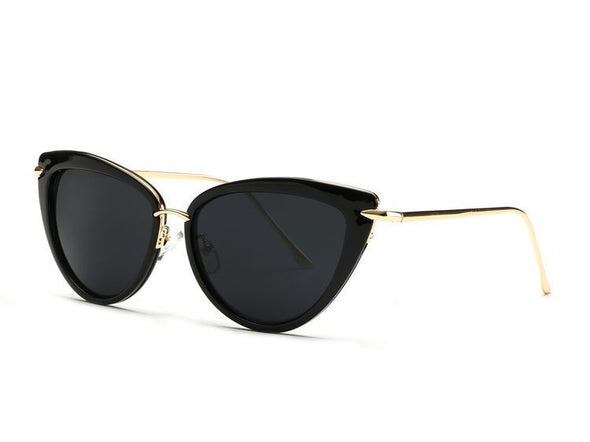Black and Gold Cat Eye Sunglasses - Hippie BLiss