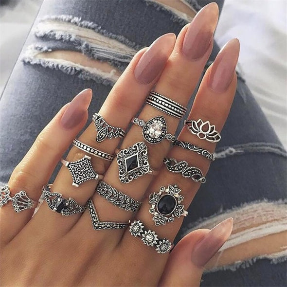 Bohemian Fashion Ring Set - Hippie BLiss