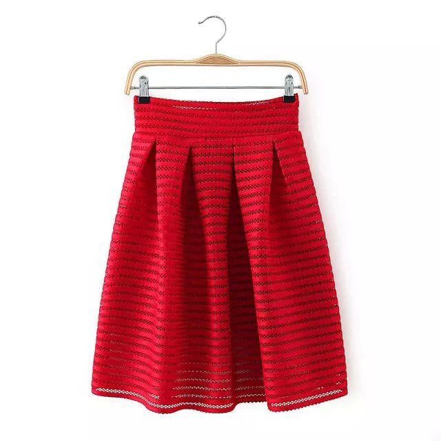 Red mini skirts Ball Gown Skirt