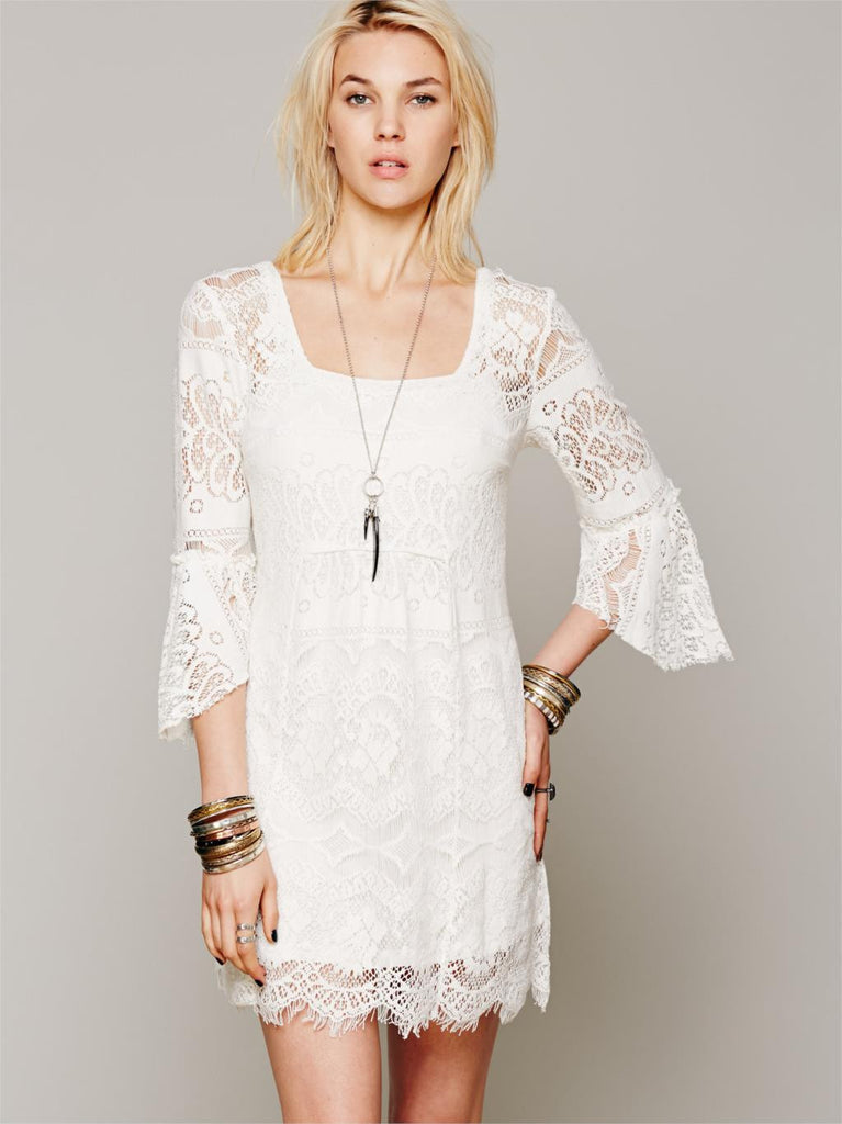 Hippie White Dresses