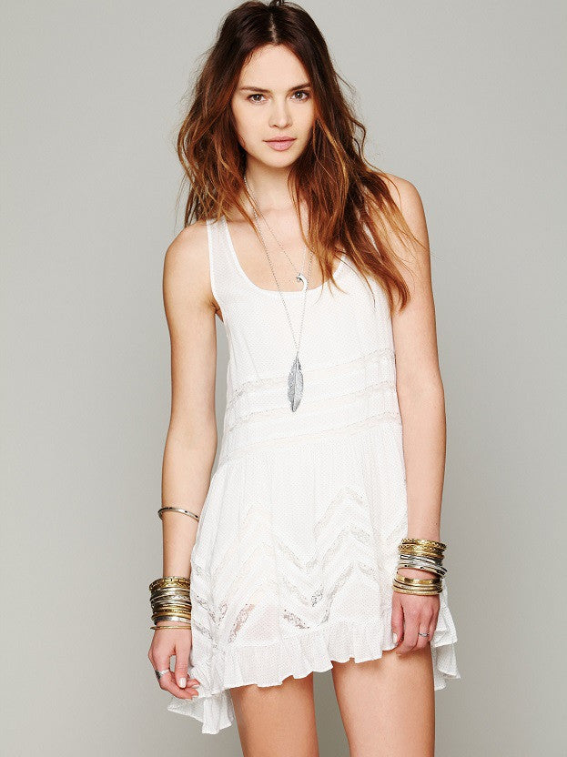 Boho People Style Dresses Sheer Dotted Slip dress - Hippie BLiss