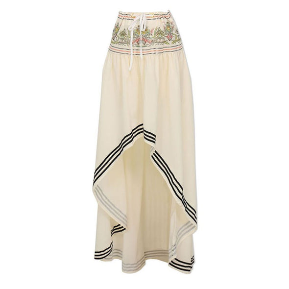 Boho Style Long Skirt Maxi Beach Asymmetric Wrap Skirt - Hippie BLiss