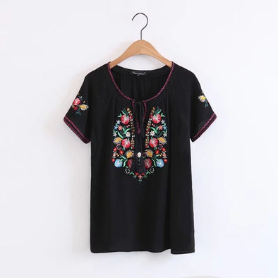 Boho Embroidery Summer Top - Hippie BLiss