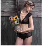 Black Lace Bralette and Panty Set - Hippie BLiss