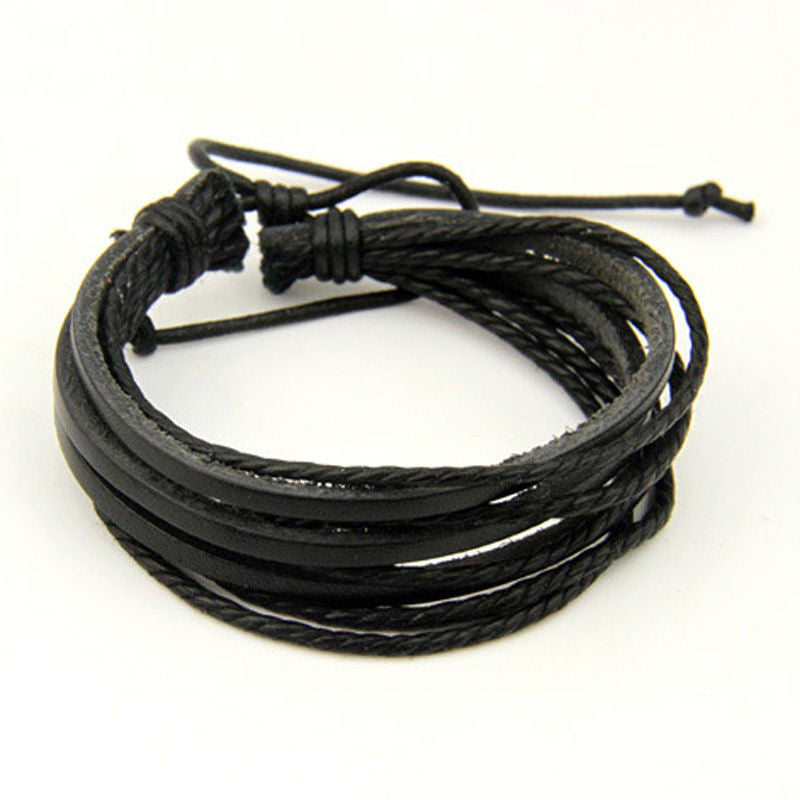 Man Leather Bracelet - Hippie BLiss