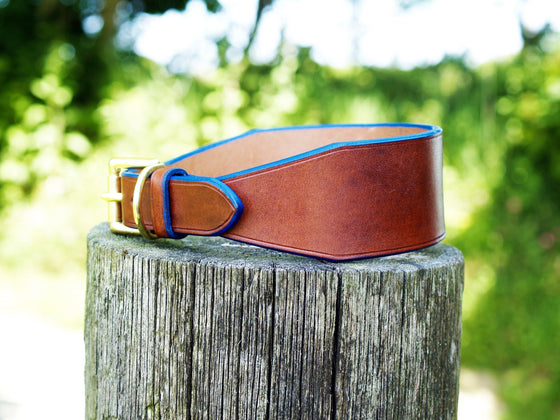 Lurcher Collar - Blue Edge - Vaux & James