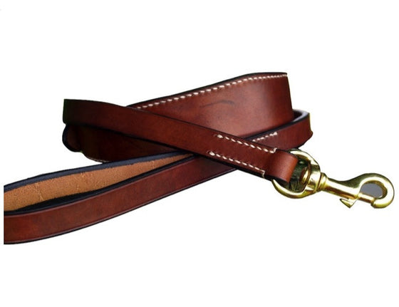 Lurcher Collar & Lead Set - 'The Oak' Contrast Stitch - Vaux & James