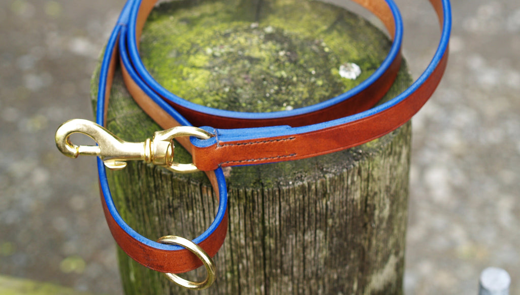 Dog Lead - Blue Edge - Vaux & James