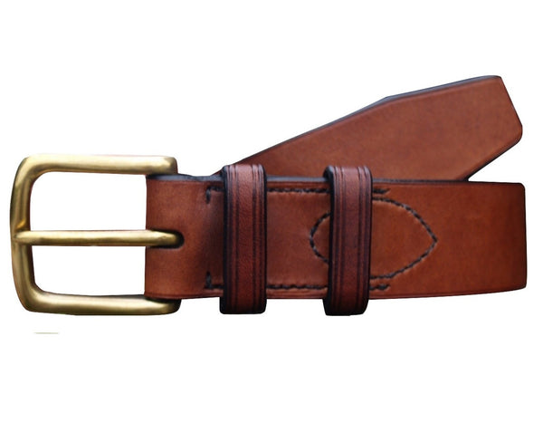 Luxury English Leather Belt - 'The Oak' Collection