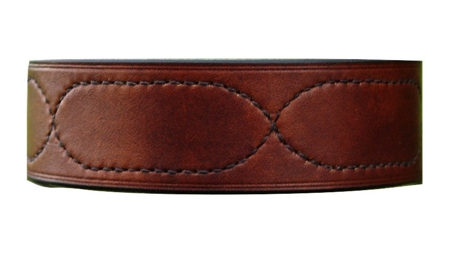 Lurcher Collar - 'The Oak' Fancy Stitch - Vaux & James