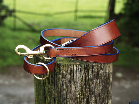 Lurcher Collar & Lead Set - Blue Edge - Vaux & James