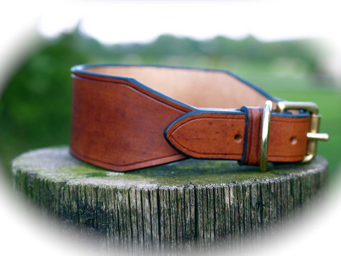 Ornate Leather Lurcher / Whippet Collar
