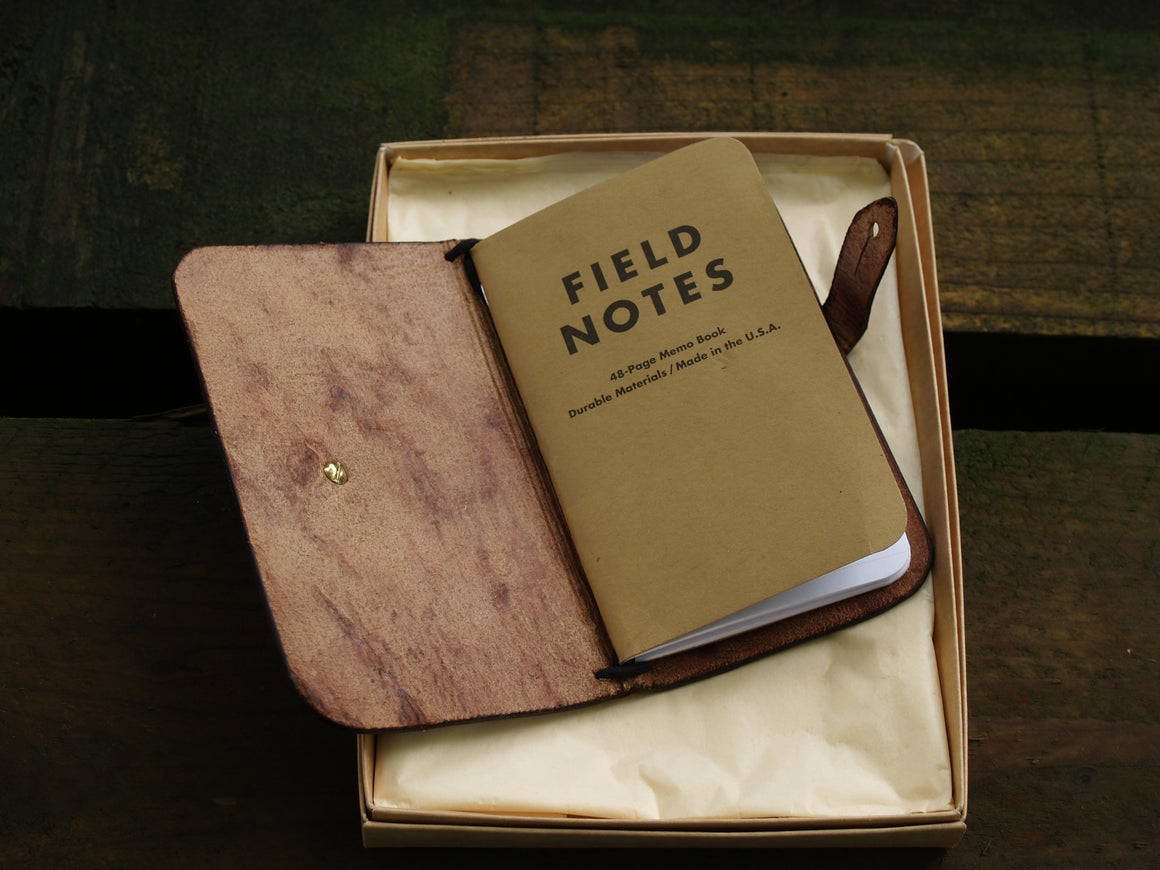 Field Notes Leather Cover Gift Set
