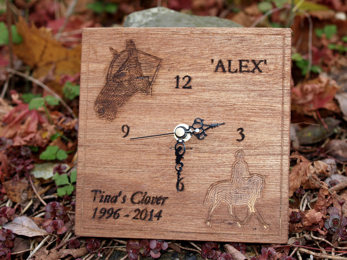 Horse / Pony Carved Clock