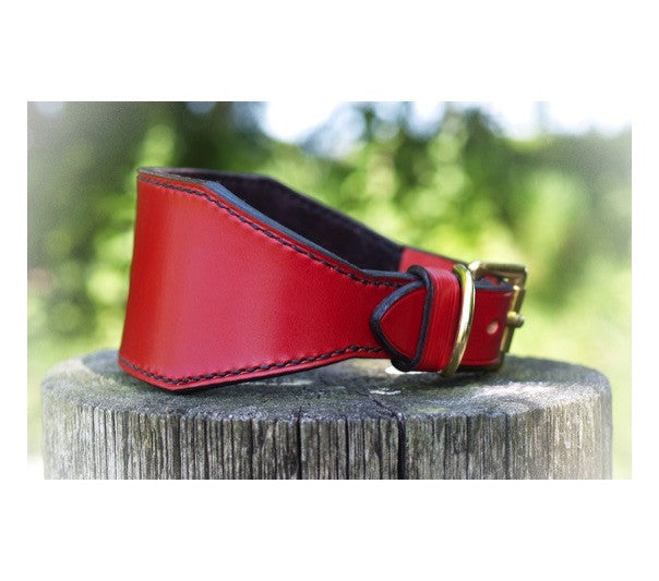 Lined Leather Lurcher Collar - Vaux & James