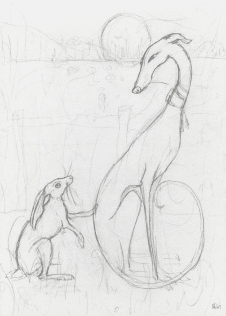 Whippet Greeting Card - A Little Trust - Vaux & James