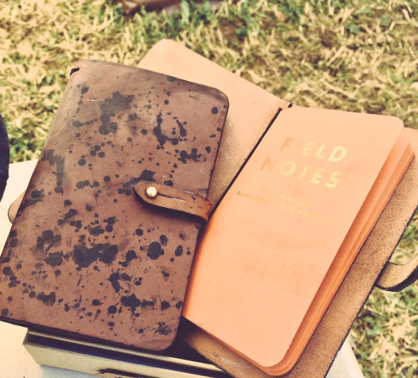 Ink Splash Field Notes Leather Cover Gift Set