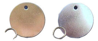 Traditional Brass and Nickel Dog Discs