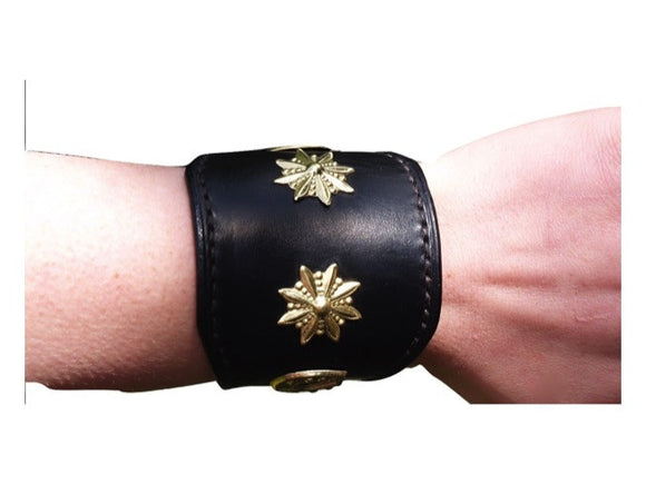 Leather Studded Bracelet - Vaux & James