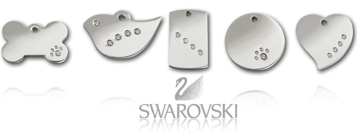 Swarovski Crystal Pet ID Tags - Vaux & James