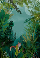 Tiger Tiger - limited edition art print by Jane Newland