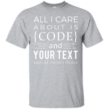 Code & (Your text) - Programming Tshirt, Hoodie, Longsleeve, Caps, Case - Tee++