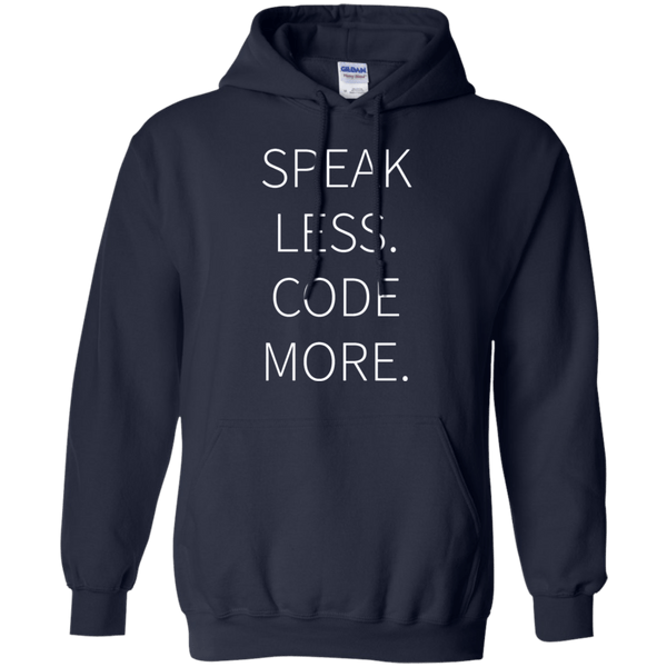 Speak Less, Code More - Tshirt, Hoodie, Longsleeve, Caps, Case - All at Tee++