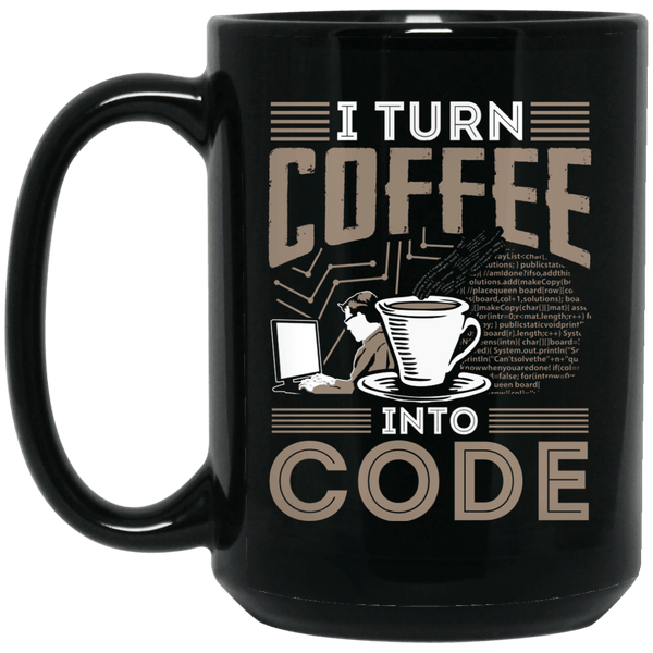 I Turn Coffee Into Code (mug)