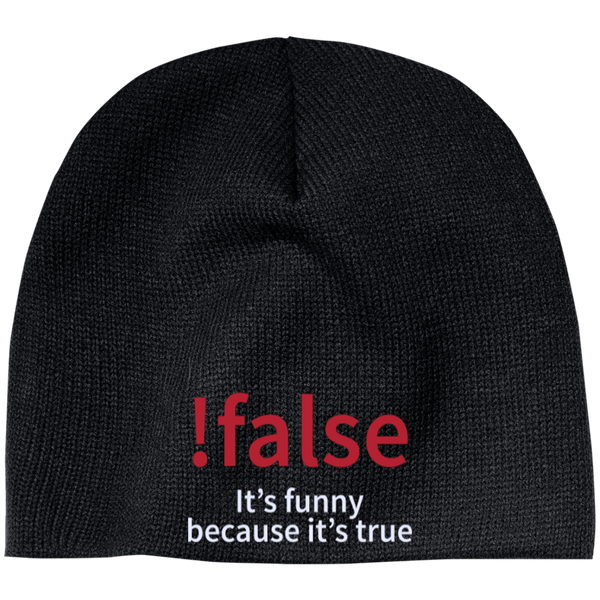 !false - Programming joke (winter caps) - Tshirt, Hoodie, Longsleeve, Caps, Case - All at Tee++