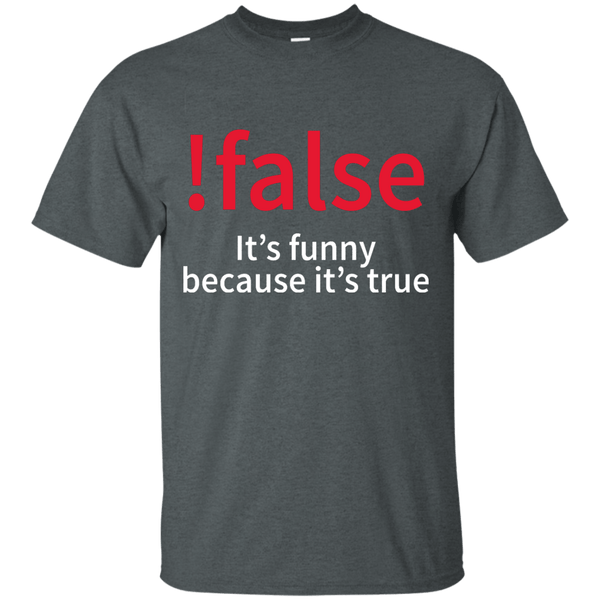 !false - Programmer joke (w/o title) - Tshirt, Hoodie, Longsleeve, Caps, Case - All at Tee++